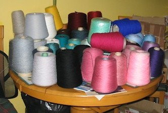 job lot of knitting machine yarn