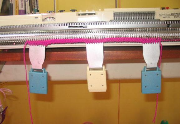 starting to knit a sampler